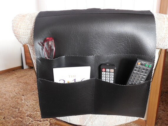 Bedside Caddy Remote Organizer Bedside Book Holder Pockets