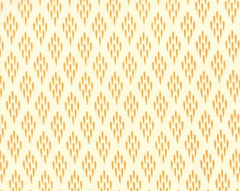 Mustard Gold and Ivory Leaf Field Fabric - Valley by Sherri Chelsi by Moda - 1 Yard