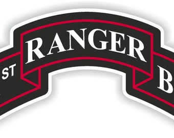 1st Ranger Regiment Insignia battalion Sticker for Laptop Book Fridge Guitar Motorcycle Helmet ToolBox Door PC Boat