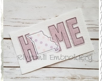 Raggy Applique Missouri Home Machine Embroidery Design - 4 Sizes
