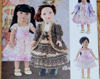 "New Simplicity Elaine Heigl Designs 18"" doll Clothes Pattern 8112"