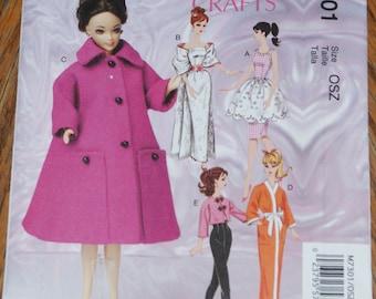 New McCall's Crafts Pattern  fashion doll M7301