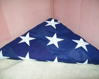 Vintage Funeral U S Flag Never Unfolded