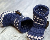 Crochet Patterns - Dakota Baby Boot - Boy - Girl -  Instant Download -  PDF K