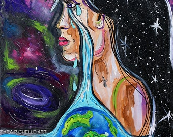 story of a girl, cried a river drowned the whole word, nine days, absolutely, painting, art, lyrics, earth, native american, water, tears
