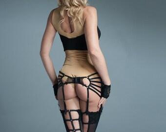 Lingerie Garter Belt - Womens Garter Belt - Black