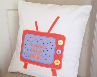 Geek Pillow, Geek Cushion, Television Pillow, Television Cushion, Tv Pillow, Tv Cushion, Personalised Pillow, Funny Pillow,