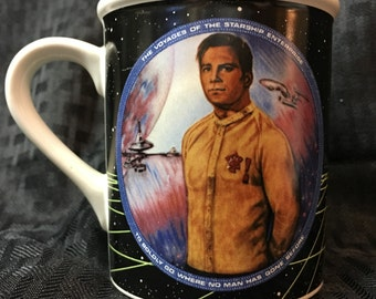 Vintage 1983 Star Trek Coffee Mug - TOS Captain Kirk