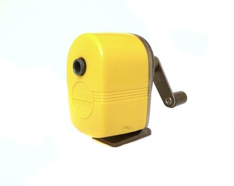 Vintage Mod Yellow Pencil Sharpener by Berol