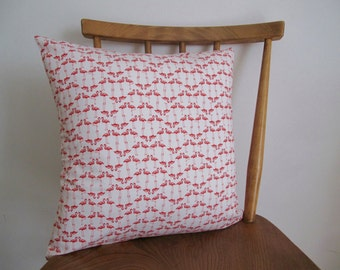 Flamingo Print Envelope Cushion Cover // Available with Hollowfibre Inner // 14.5 x 14.5""
