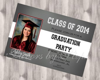 Graduation Party Invitation - PRINTED qty 30