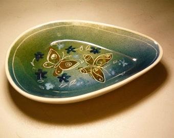 Vintage Glazed Butterfly Dish