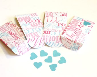 Mothers Day Envelopes, Mini Handmade Gift Card Holders, Floral Arrangement Gift Envelopes, 4 Pocket Envelopes, Mom's Birthday itsyourcountry