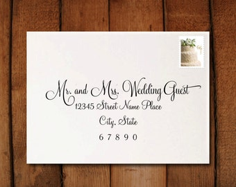 Wedding Invitation Calligraphy Digital Address Formatting // EXAMPLE // Print From Home // Invitation Addressing on a Budget // Lily Style