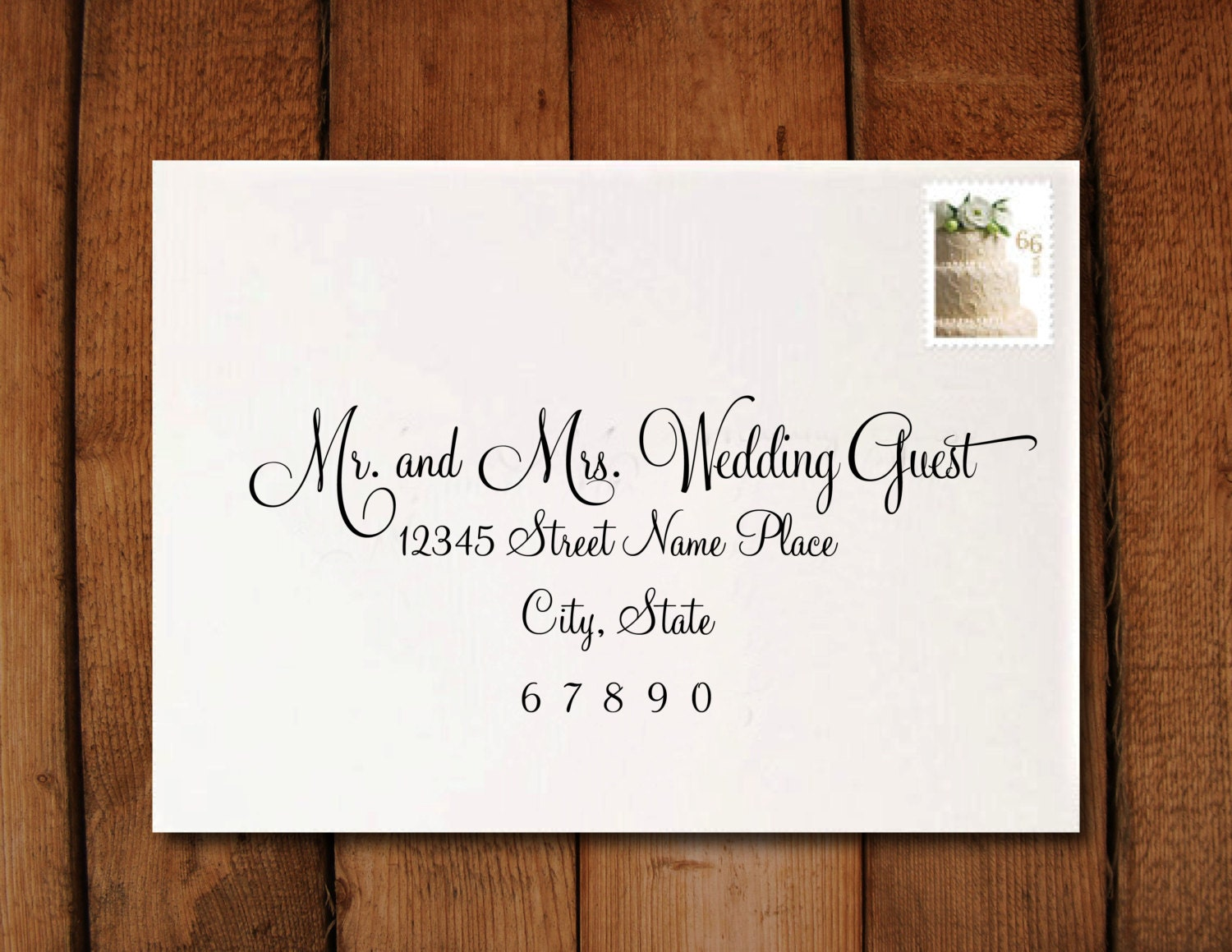 Wedding Invitation Calligraphy Digital Address Formatting