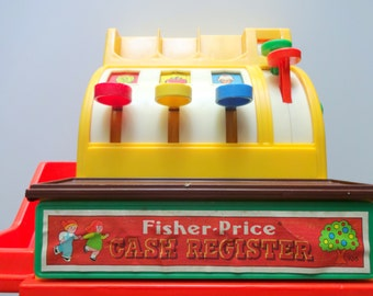 Vintage Fisher Price Cash Register Toy 1974