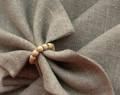 "Linen Napkins Cloth Napkins Wedding Napkins Napkin Ring Holders Gray Linen Napkins Gray Napkins Prewashed Linen - set of 8 size 18"" x 18"""
