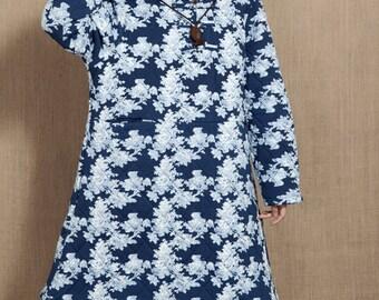 Loose Long padded coat winter large size women clothing