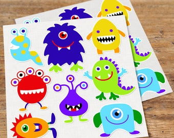 Olive Kids Monster Wall Decal Cut Outs, Kids Wall Decor