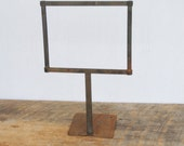 Vintage Rusty Store Price Holder Display Stand Fixture