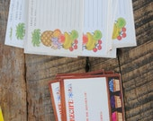 Vintage Kitchen Recipe Cards Current Tropical Fruit and Hallmark