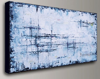 Good Abstract Painting Acrylic Large Wall Fine Art Home Acrylic Oil Interior  Bedroom Office Decor Canvas Textured