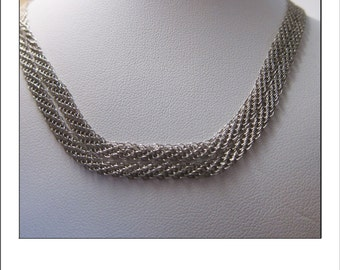 """Tiffany & Co Sterling Designer Double Mesh 18"""" Necklace By Elsa Peretti"""