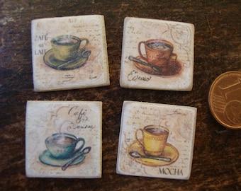 dollhouse miniature image   vintage 4 pieces