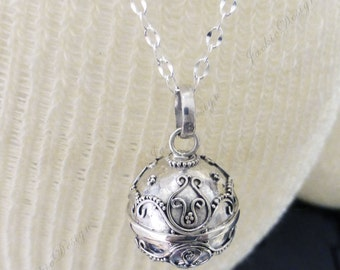 Angel Caller Bell 16mm Harmony Ball (Mexican Bola) Pendant - Pregnancy Necklace ZZ85