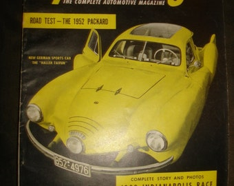 July 1952 Speed Age The Complete Automotive Magazine ~ Vintage 1950s Auto Car Hot Rod Racing