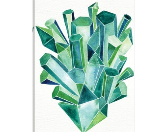 iCanvas Emerald Artprint Gallery Wrapped Canvas Art Print by Cat Coquillette