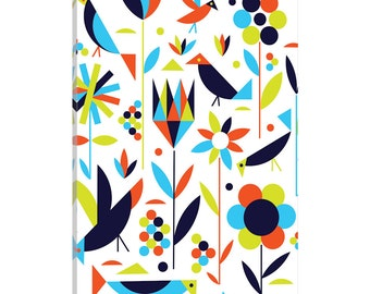 iCanvas Birds & Flowers Gallery Wrapped Canvas Art Print by Greg Mably