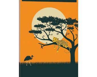 iCanvas Rwanda Gallery Wrapped Canvas Art Print by Jazzberry Blue