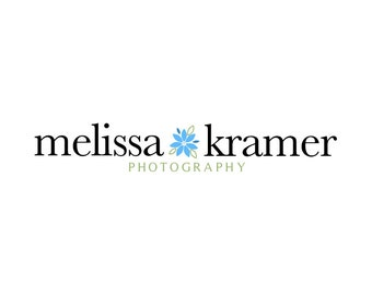 Flower Photography Logo and Watermark, Premade Customizable Logo Design