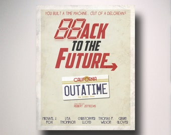 Back to the Future Inspired Minimalist Movie Poster / Minimalist Movie Poster / Wall Art / Back to the Future Poster