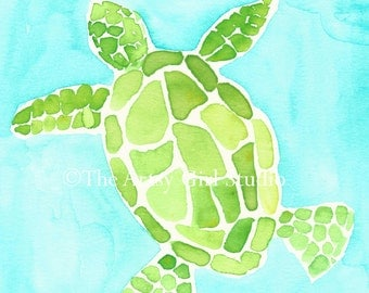 Sea Turtle - Art print available in three sizes