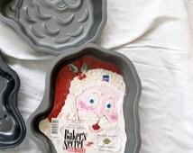 Baker's Secret Santa Claus Cake Pan / Santa Face Pan / non-stick cake pan