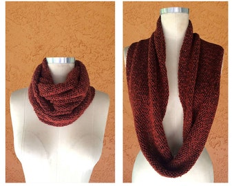 Circle Scarf / Infinity Scarf / Winter Scarf / Winter Accessories / Long Scarf / Red Soft Sweater Scarf / Neck Warmer
