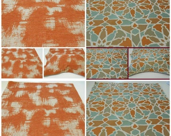 "Upholstery Fabric- Avant Gard- Orange Upholstery Fabric- Mango Glacier- po 26""x26"""