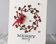 Merry Berry Wreath Card
