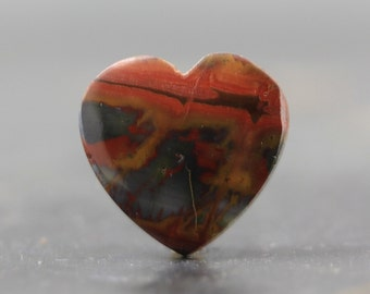 Cherry Creek Jasper Heart, Valentine, Earth Tone Loose Gemstone, DIY Arts and Craft and Jewelry Making, Jewelry Tutorial Kit Supply