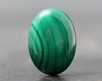 25mm Oval Cabochon, Malachite Banded Green Natural Stones for Ring, Jewelry Setting - Gorgeous Jewelry Designs, DIY Lesson & Tutorial Gem