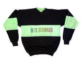 Classic 80s Neon Gradient M/S Seaward Lightweight Crewneck - L