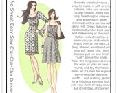 HOT PATTERNS Pattern HP103 - Misses' Cha-Cha-Cha Scoop Neck or Halter Neck Dress/Sundress - Sz 6-14 B32-40 - From 2007