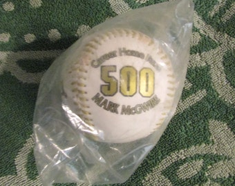 Vintage MARK MCGWIRE Career home Runs 500 Limited Edition Baseball Mint in Package