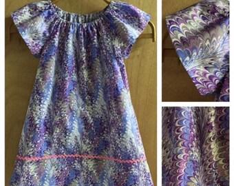 Hippie/Boho Peasant Dress, girls size 5