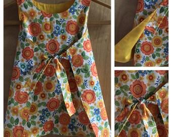 Boho/Hippie Retro Style Wrap Dress, size 3t