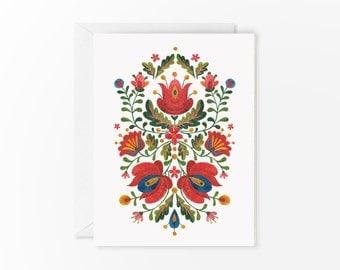 Romanian Folk Embroidery card