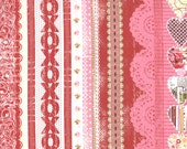 Valentine Item - Kissing Booth fabric collection by Basic Grey Border fabric 30311-12 - 1 Yard