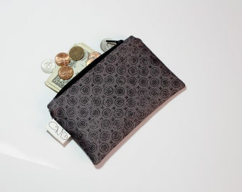 Coin Zip, gunmetal, coin pouch